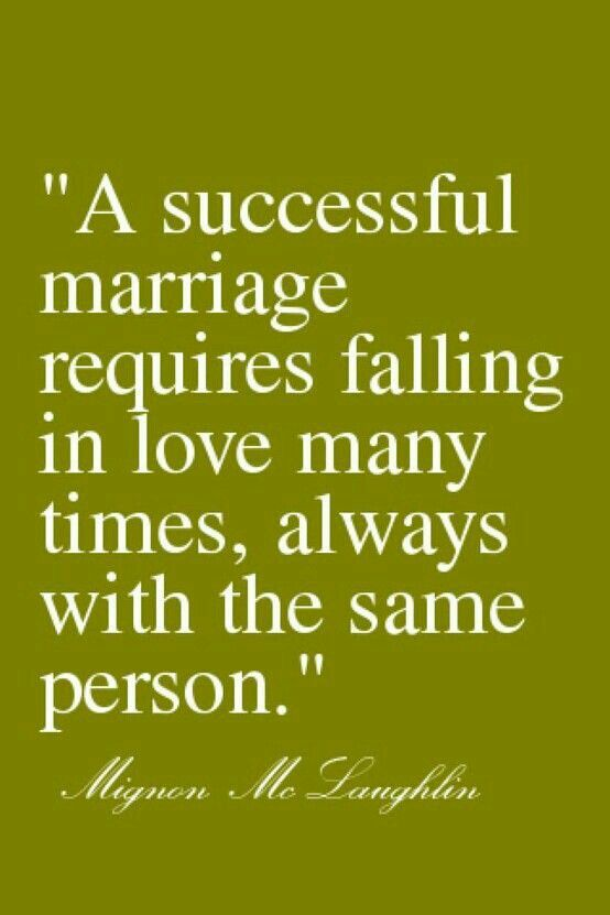 Een goed huwelijk.
