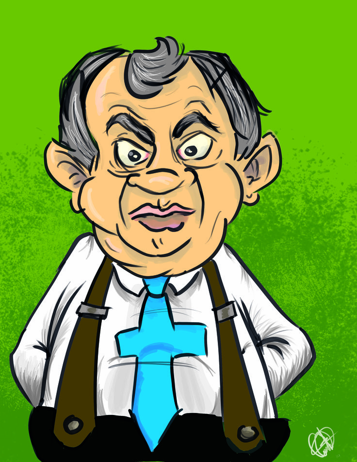 Caricatura Alejandro Ordoñez.