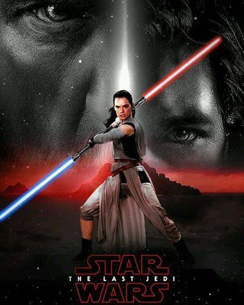 Star Wars Episode VIII The Last Jedi poster Gray Jedi version #starwars #episodeviii #thelastjedi #poster