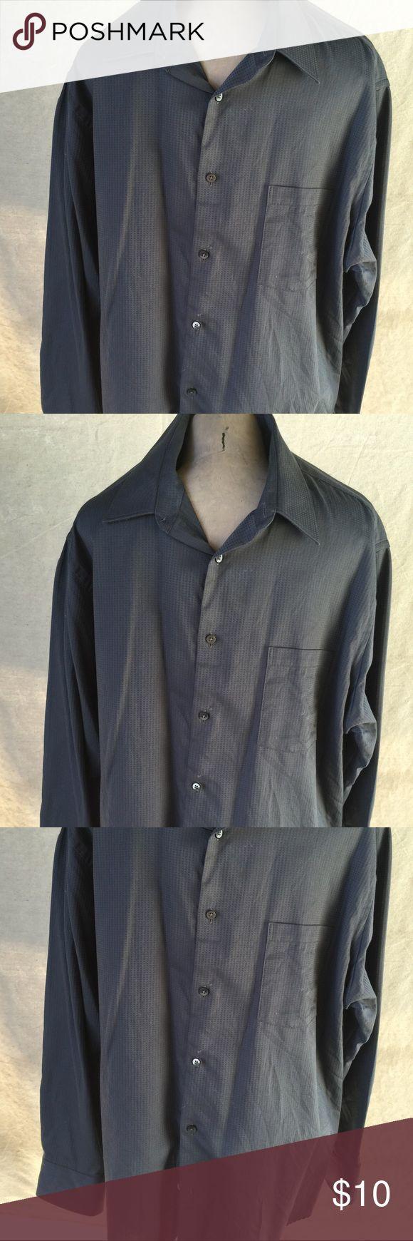 Geoffrey Beene Men's Gray Dress Shirt Geoffrey Beene Men's Charcoal Gray Dress Shirt Size Large Geoffrey Beene Shirts Dress Shirts