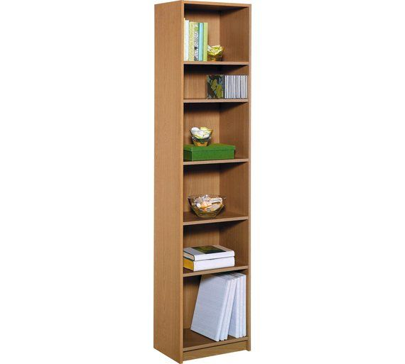 Home Maine Half Width Tall Extra Deep Bookcase Oak Effect At Argos Co Bookcasebookcasesshelving Unitsstorage