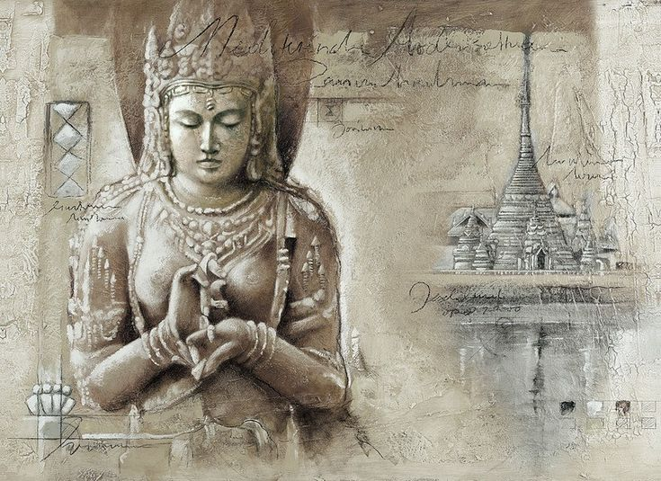 Tuinposter 'Buddha 3'
