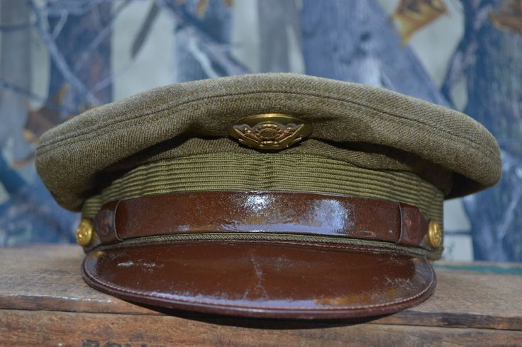 WWII US Army Air Corps Visor Hat Cap WW1 vintage antique old war ...