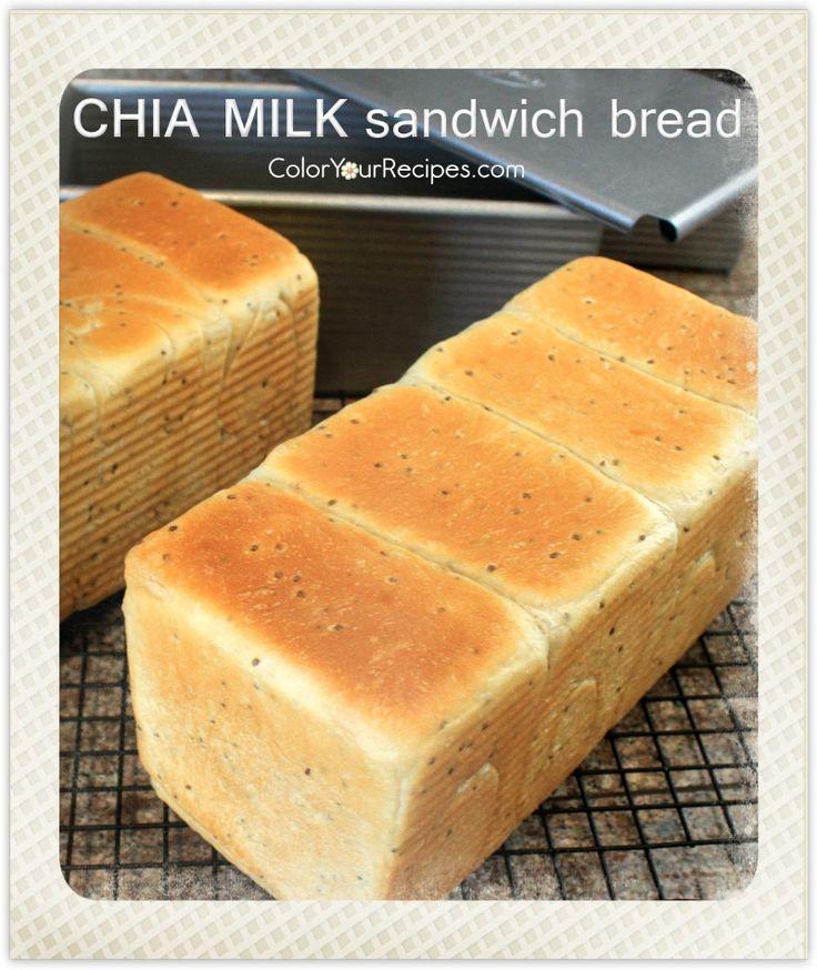 Chia Milk Sandwich Bread