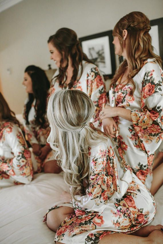 Bridesmaid Robes-3 Floral Bridesmaids Robes for your party of