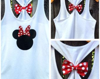 Pirate Mickey Bow Back Tank Top Disney Tee Disney by 31Blossoms