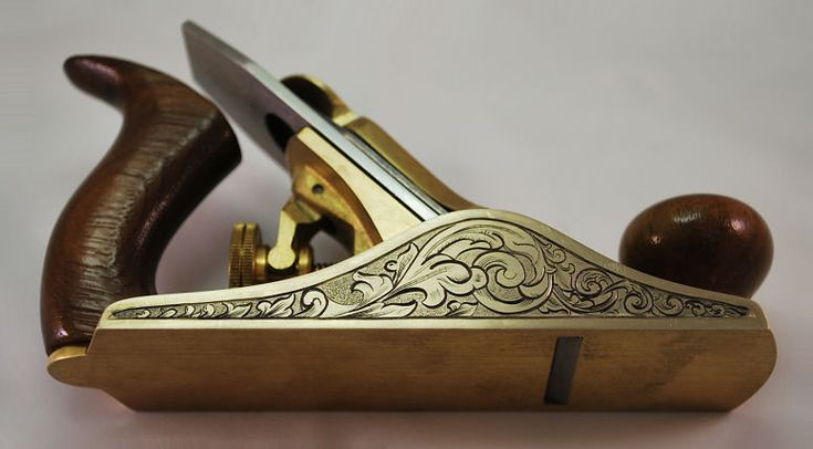 Artisan Catharine Kennedy skillfully hand engraves metal tools, knives, and accessories.