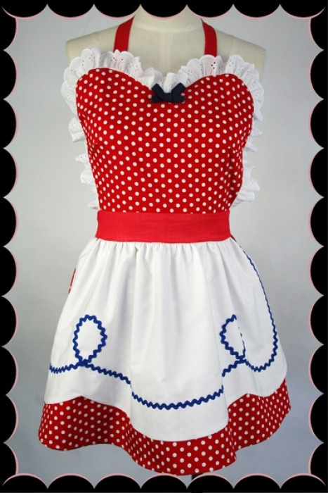 Strawberry Pie Apron - Kitten D'Amour