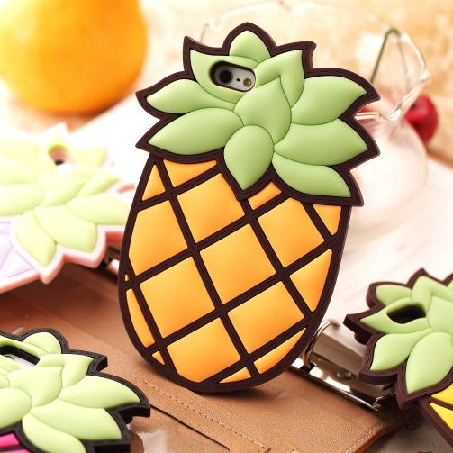 voor iphone 4 4s zak silicagel sets 5 ananas ananas appel mobiele telefoon geval mobiele telefoon