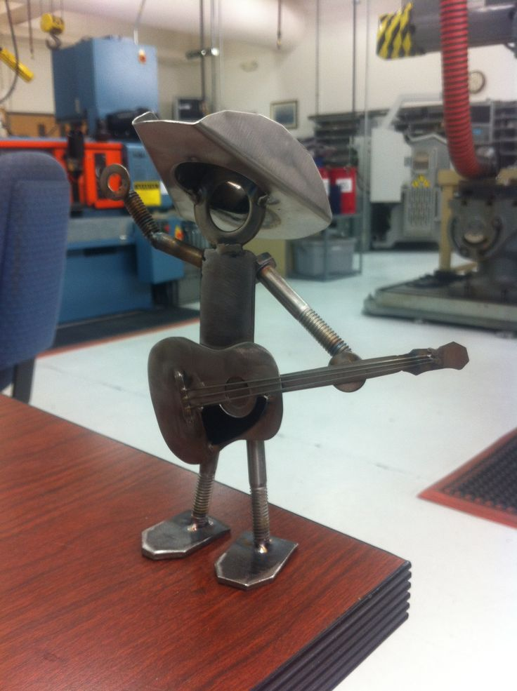 Guitar Man Made Of Nuts Bolts Sheet Metal And Tig