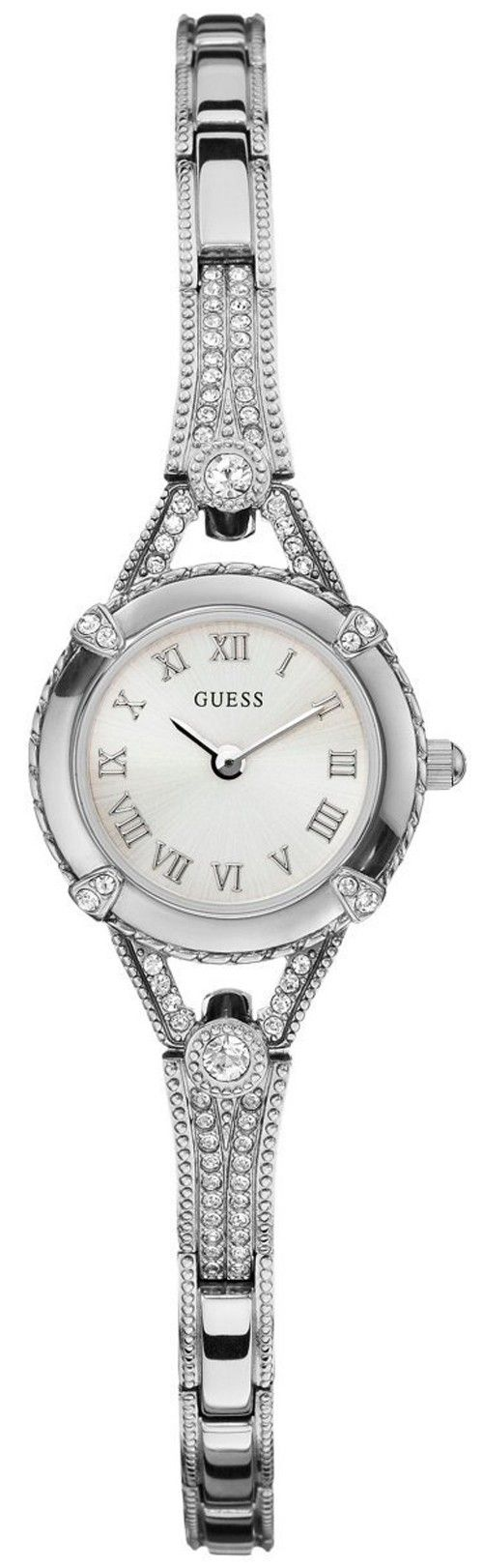 #Guess #Watch , GUESS Women's Silver-Tone Petite Crystal Watch...$67.90