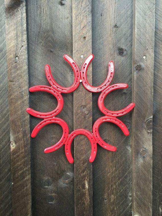 BRICOLAGE Couronne cadre - fer à cheval Couronne - cadre Couronne en fer à cheval - porte couronne - porte suspendu - décor de fer à cheval - fer à cheval Art