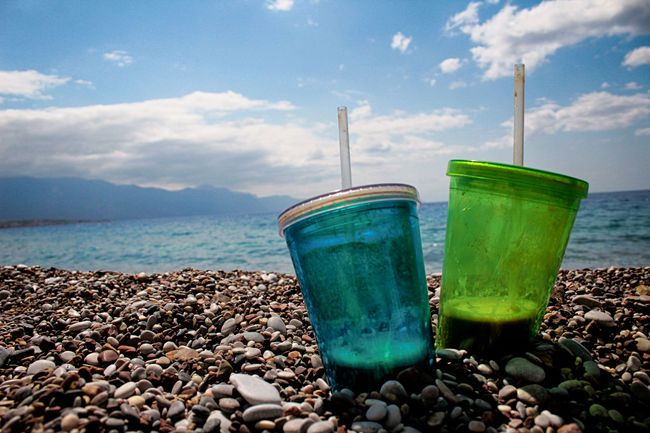 Drinks Coffee Cup Cups Good Time With Friends Mags Rocks Sea Sky Sun Vacations…