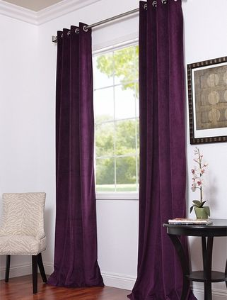 Elegant Love The Length...this Is A Half Price Drapes Website... Purple Bedroom ... Design Ideas
