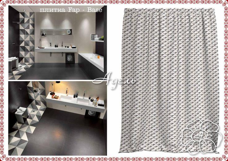 Штора для ванной 180х200 см, ткань лотос, люверсы металлические d=1 см - 6 800,00 руб.