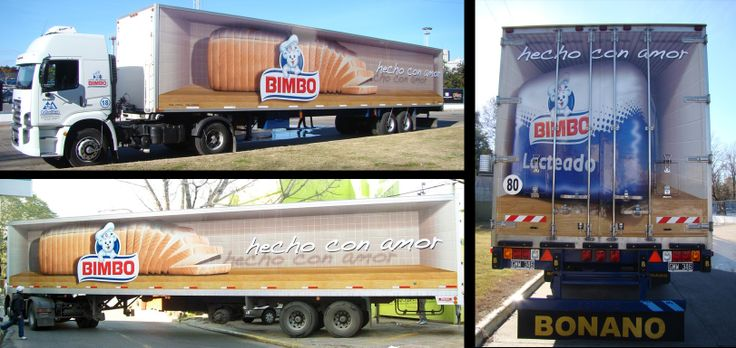 This 3D Vehicle graphic was designed and installed on the delivery trucks of Bimbo Bread in order to promote the bread across LatAm.