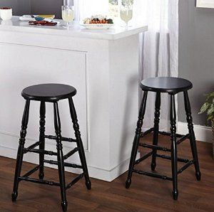 Amazon.com: BLACK Bar Stools 30 Inches Set of 2 Traditional Home Kitchen Patio Breakfast Indoor Outdoor For Sale Tabouret WOOD Chairs Restaurant Outside Furniture In Clear Seats Garage Inch Pub Sports: Kitchen & Dining