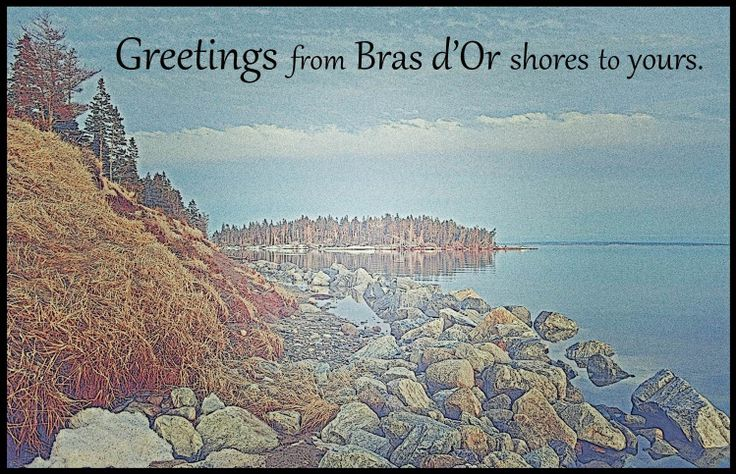 Share the Bras d'Or with loved ones. Greeting cards from Driftwood Discoveries on Etsy.