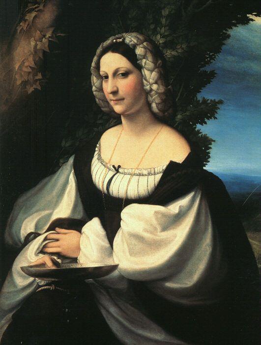 Portrait of a Gentlewoman: 1517-1519   by Correggio (Hermitage Museum - St-Petersburg) - High Renaissance