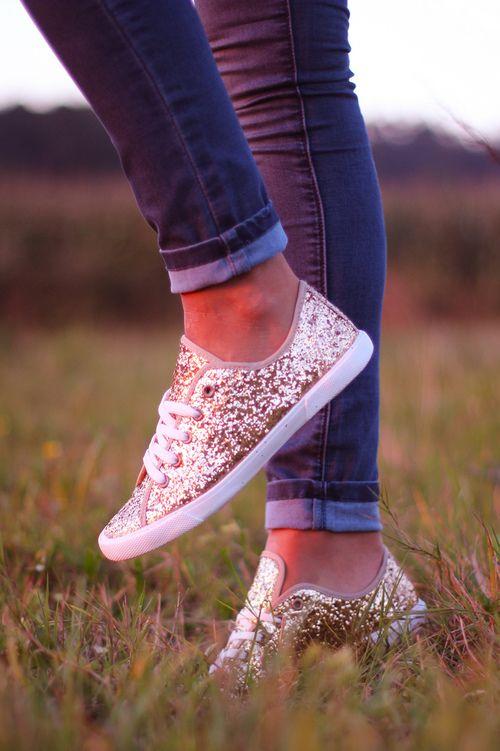 Glitter Spray Paint Sneakers