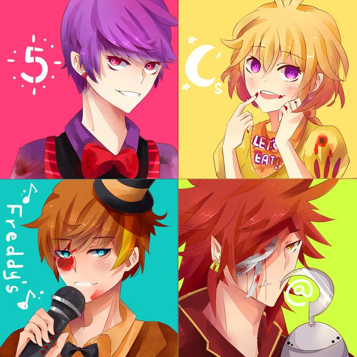 5 nights at freddy's   If the animations in Five Nights at Freddy's were humans in an anime ...