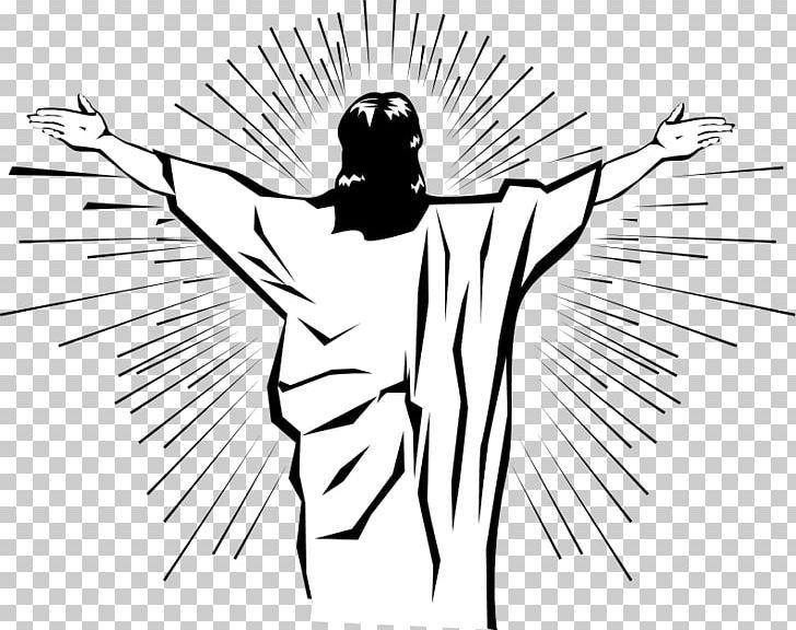 Resurrection Of Jesus Easter Png Arm Art Artwork Ascension Of Jesus Black And White Jesus Resurrection Ascension Of Jesus Easter Jesus