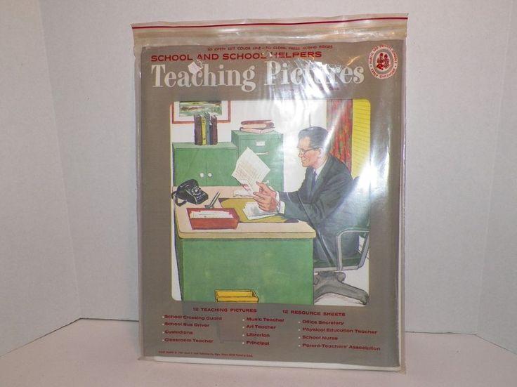 Teaching Pictures School Helpers 1968 David C Cook Resource Sheets Complete  #TeachingPictures