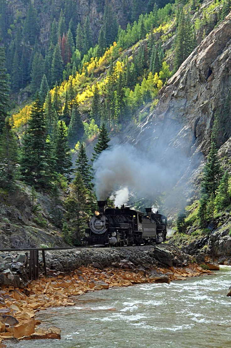 Silverton Train, amazing ride through the most gorgeous scenery in the state. be sure to visit the towns on the road from Durango to Ouray, then drive over to Telluride. look out for wildlife, old mining buildings tucked into the hills & gorgeous vistas.