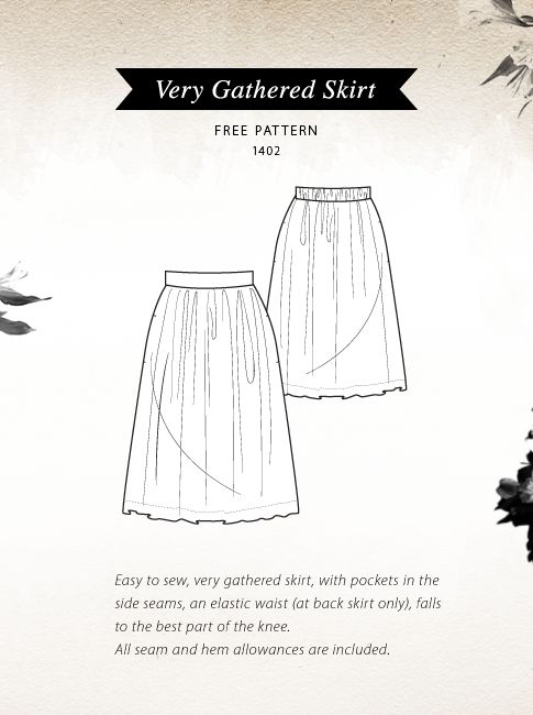 Pattern Runway: {Free Pattern} -Very Gathered Skirt. From: http://www.patternrunway.com/2011/09/free-pattern-very-gathered-skirt.html#