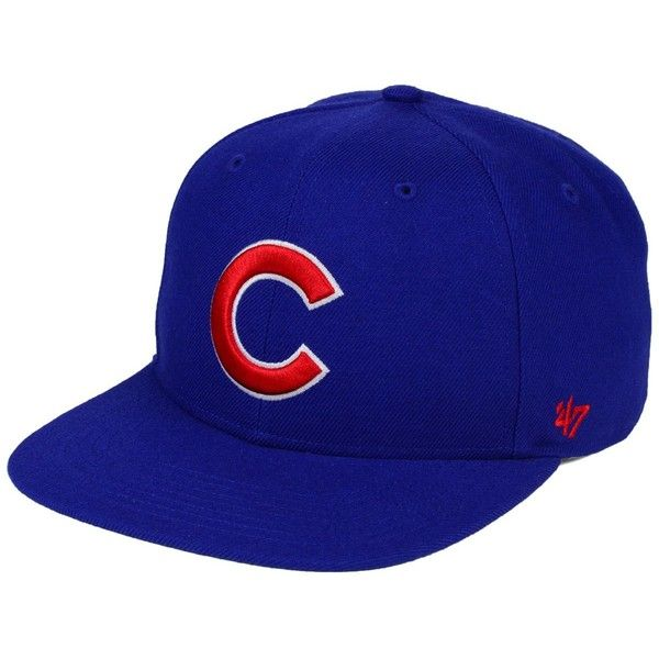'47 Brand Chicago Cubs Sure Shot Snapback Cap ($32) ❤ liked on Polyvore featuring accessories, hats, royalblue, cap hats, snapback hats, '47 brand, mlb caps and snapback cap
