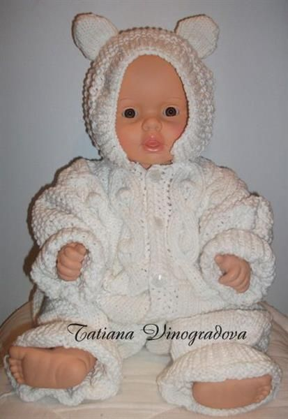 Связать костюм для новорожденного мальчика спицами