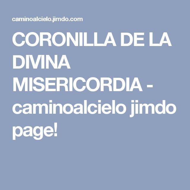 CORONILLA DE LA DIVINA MISERICORDIA - caminoalcielo jimdo page!