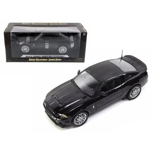 2013 Ford Shelby Cobra GT500 SVT Black with Chrome Wheels 1/18 Diecast Model Car by Shelby Collectibles