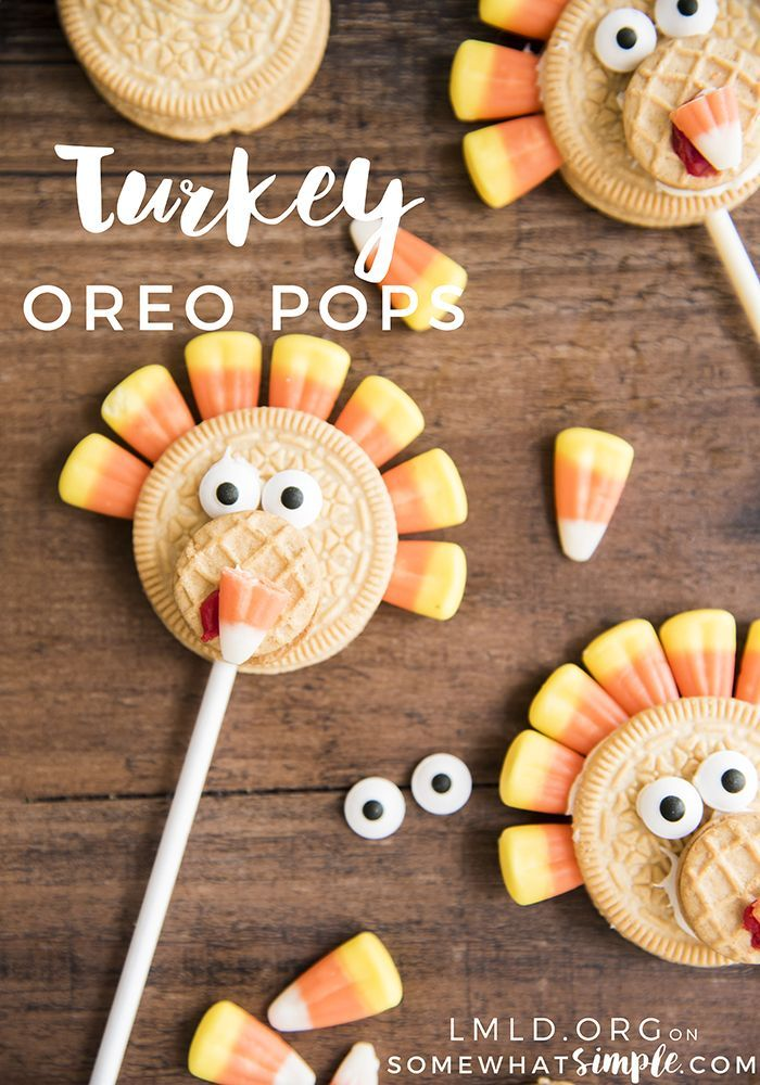 These Turkey Oreo Pops are the cutest Thanksgiving treat on a stick!