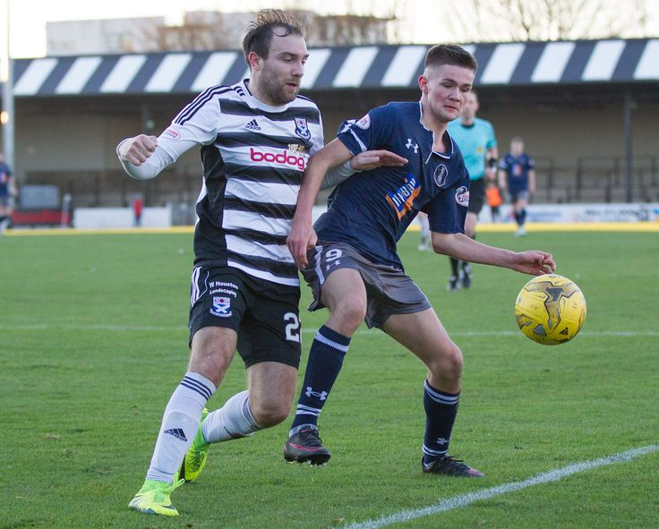 Queen's Park's Ewan MacPherson in action during the Scottish Cup round 4 game between Ayr United and Queen's Park.