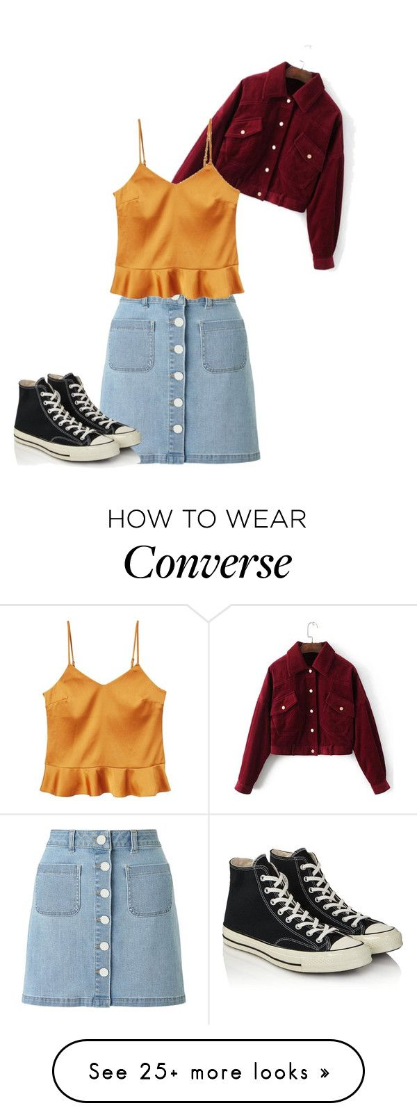 """I dont even know what this is"" by angelicagutierrez786 on Polyvore featuring Miss Selfridge, MANGO and Converse"