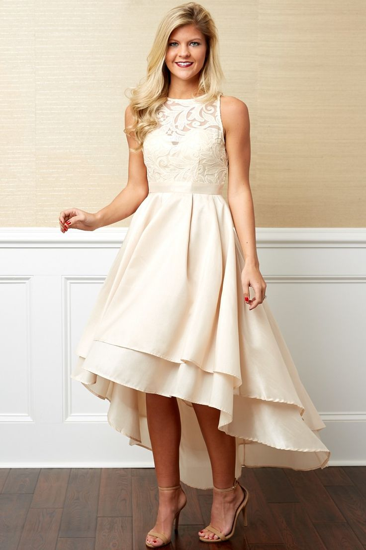 Waltz Away With My Heart Ivory Dress at reddressboutique.com