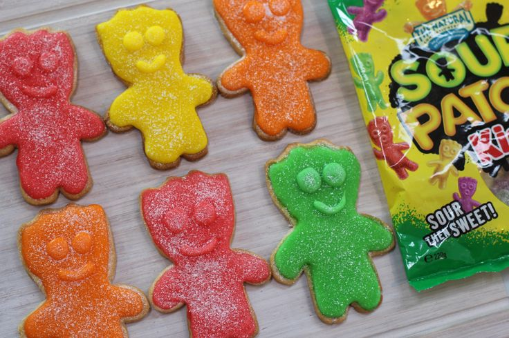 Sour Patch Cookies - Super Sour Candy Cookie Recipe | My Cupcake Addiction