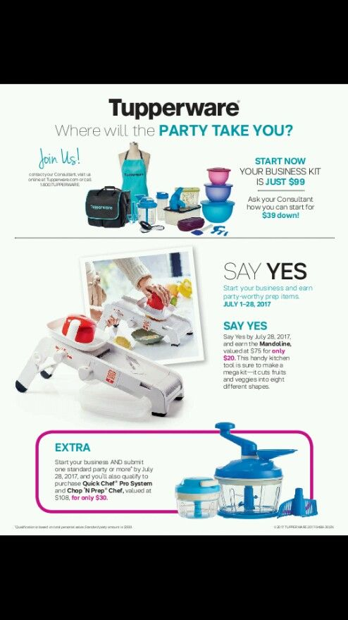 July Say Yes Offer..sign up for $39 dwn and have 60 days to pay the remaining $60..PLUS get the Mandoline for an additional $20 as soon as you say yes!!! Contact me for more info..houstonluv@yahoo.com