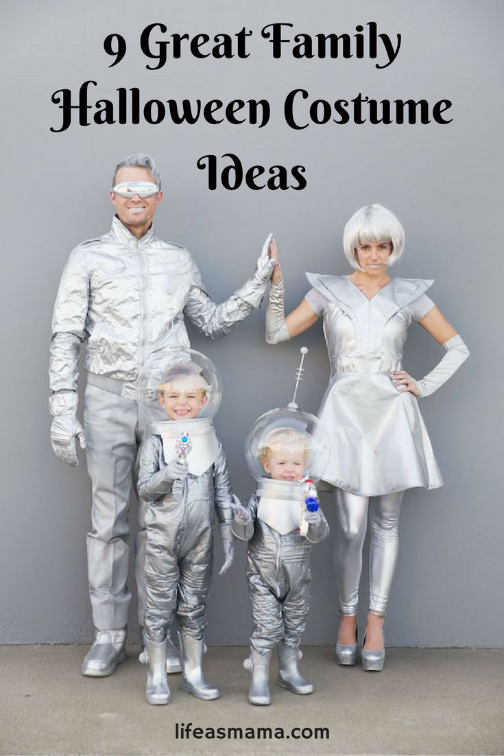 As a mama, even if you don't have a free pass to go door to door for asking for free sugary treats, you should still be allowed to celebrate the spooky holiday to the fullest. Hopefully, these awesome family costumes ideas give you a little inspiration for your family's own Halloween fun!