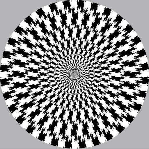 Fractal spiral illusion