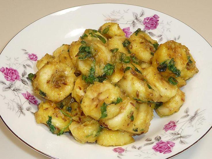 Kela Ki Subji (Banana Curry) | Manjula's Kitchen | Indian Vegetarian Recipes | Cooking Videos
