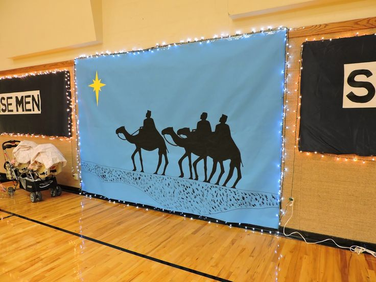 Army Wife Quilter: wise men still seek him ward Christmas party decorations