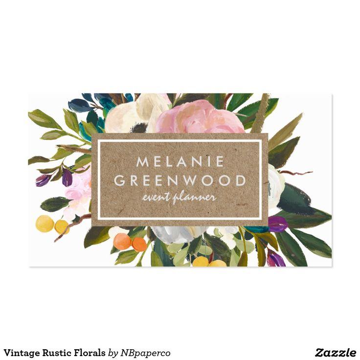 grow your business with these vintage rustic florals business cards each business card can be. Black Bedroom Furniture Sets. Home Design Ideas
