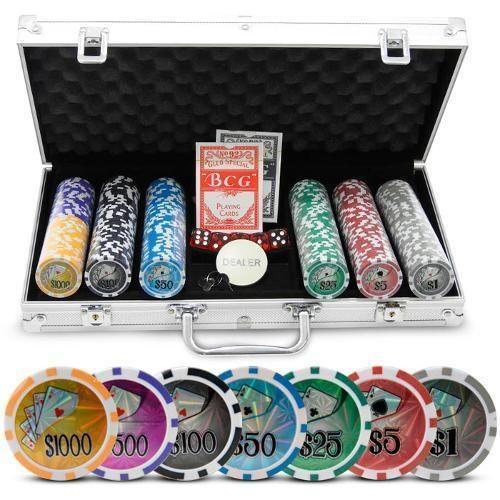 Maleta De Poker - Jogo De Poker Grand Royale - 300 Fichas Holográficas Oficiais…