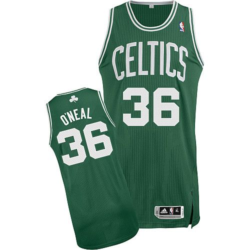 Boston Celtics Shaquille O'Neal 36 Green Authentic NBA Jersey Sale