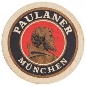 Cerveja Paulaner bolacha de chopp