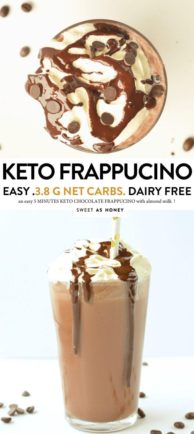 Keto Chocolate Frappucino Easy Diy Almond Milk Frappucino 3 8 G