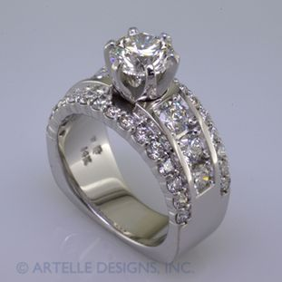 Beautiful And Timeless Round Diamond Engagement Ring With Ideal Cut Diamonds That Will Never