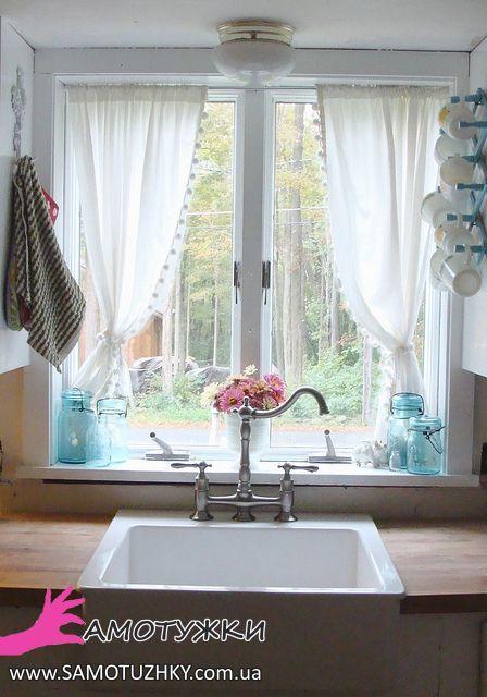 Оригінальні штори та фіранки на кухню – Самотужки
